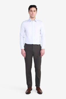 Slim Fit Polyester Twill Suit Pants