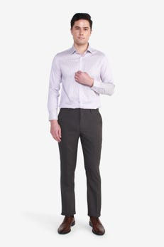 Reg Fit Polyester Twill Suit Pants