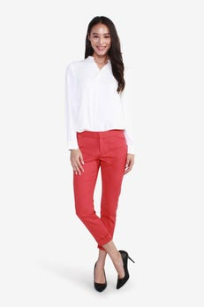 CNS Double Weave Cropped Straight Leg Pants