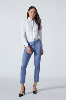 Ankle Skinny Sateen Pants