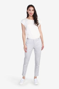 Sateen Ankle Skinny Pants