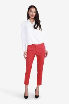 CNS Double Weave Cropped Skinny Pants