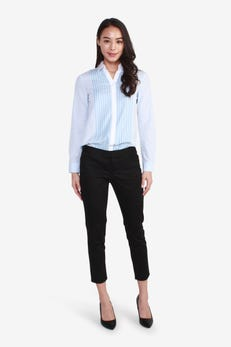 Sateen Cropped Skinny Pants