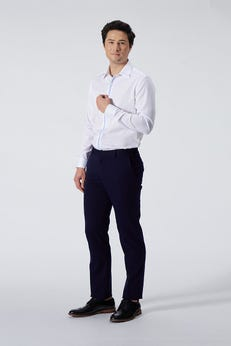 Regular Fit Polyester Rayon Twill Pants