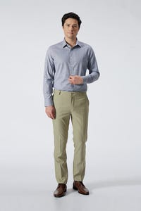 Slim Fit Polyester Rayon Textured Pants