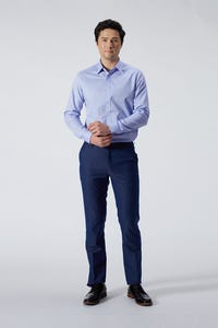 Ultra Slim Fit Polyester Rayon Textured Pants
