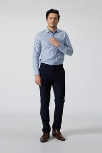 Regular Fit Polyester Rayon Checked Pants