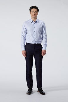Ultra Slim Fit Polyester Rayon Checked Pants