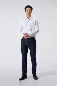 Slim Fit Polyester Rayon Checked Pants