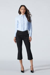Shirt with Striped Placket