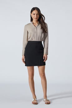 Rayon Shirt with Concealed Wide Placket