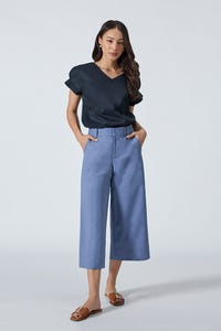 Pleated Cuff Blouse