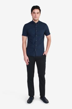 Short Sleeve Informal Oxford Shirt