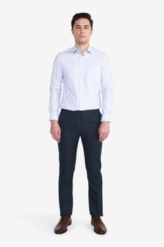 Slim Fit Polyester Twill Pants
