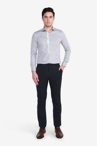 Reg Fit Polyester Textured Pants