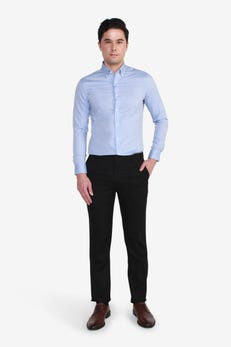 Slim Fit Polyester Textured Pants