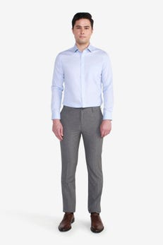 Slim Fit Polyester Plain Weave Pants