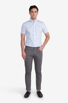 Slim Fit Cotton Poly Spandex 5 Pocket Pants