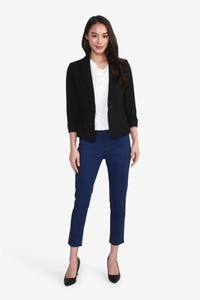 Basic Suit Blazer with Turn-Up Cuff