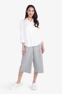 Rollable Crop Sleeves Blouse