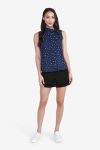 Dot Printed Sleeveless Blouse