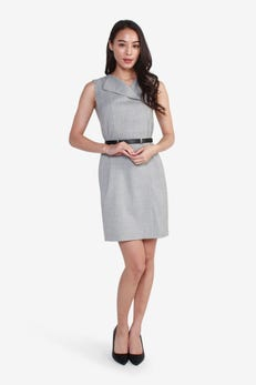Ponte Fitted Dress with Belt
