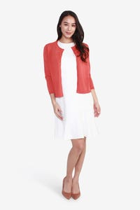 Round Neck Buttoned-Down Cardigan
