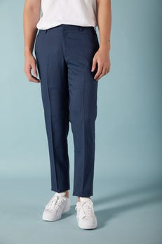 Slim Fit Polyester Twill Stretch Suit Pants