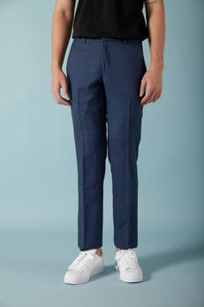 Regular Fit Polyester Twill Stretch Suit Pants
