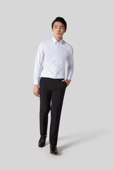 Ultra Slim Fit Polyester Textured Pants