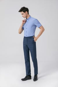 Navy Blue Ultra Slim Fit TR Twill Pants