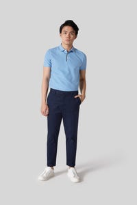 Tapered Fit Cotton Spandex Woven Pants