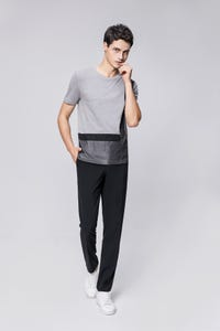 Grey Smart Fit Colour Blocking Tee
