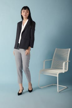 Coolmax Dobby Suit Blazer with Drawstring Sleeves