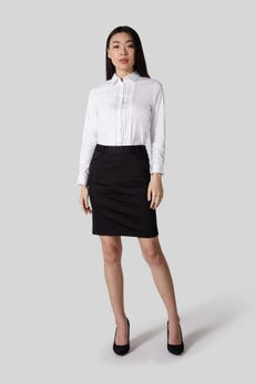 Shirt with Lace and Pintuck Detailing