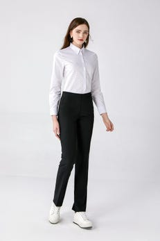 White Regular Fit Double Dice Printed Shirt with Buttoned Collar