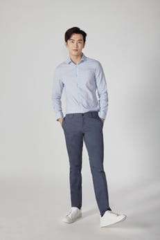 Slim Fit Cotton Spandex Woven Pants