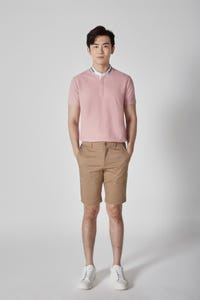 Smart Fit Cotton Spandex Flat Front Pocket Shorts