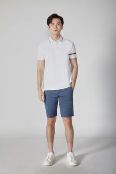Tipped Sleeve Polo