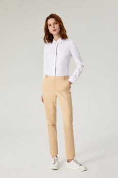Easycare Slim Fit Shirt with Contrast Trim