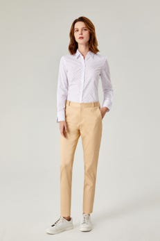 Broken Dot Printed Easy Fit Shirt with Slit Cuff