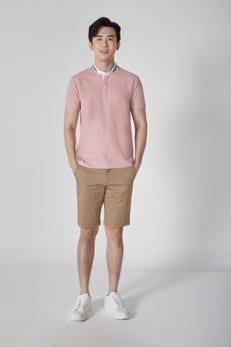 Floral Stand Collar Polo