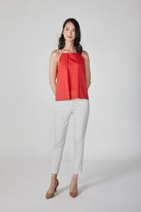 Square Neck Sleeveless Blouse
