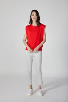 Padded Shoulder Tee