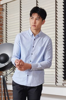 Smart Fit Oxford Stripe Block Shirt