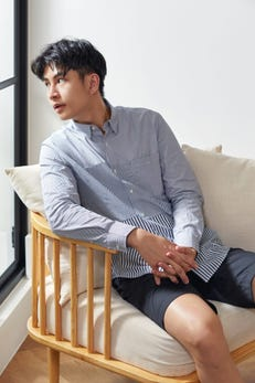 Smart Fit Stripe Block Shirt