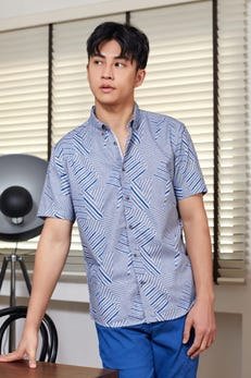 Smart Fit Zigzag Printed Shirt