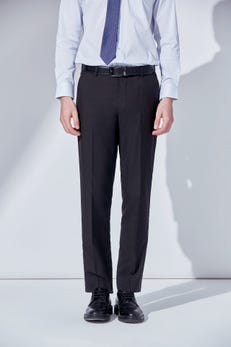 Smart Fit Polyester Twill Pants with Elastic Waist Band