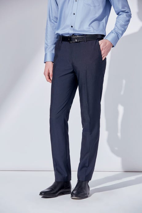 Ultra Slim Fit Easy Care + Anti Static Flat Front Pants