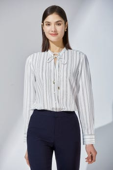 Feather Print CVC Poplin Shirt